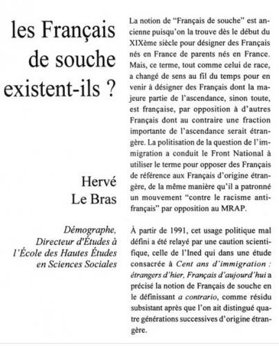 français de souche